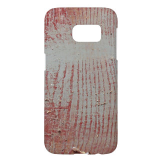 Worn Red Iowa Barn Wood Samsung Galaxy S7 Case