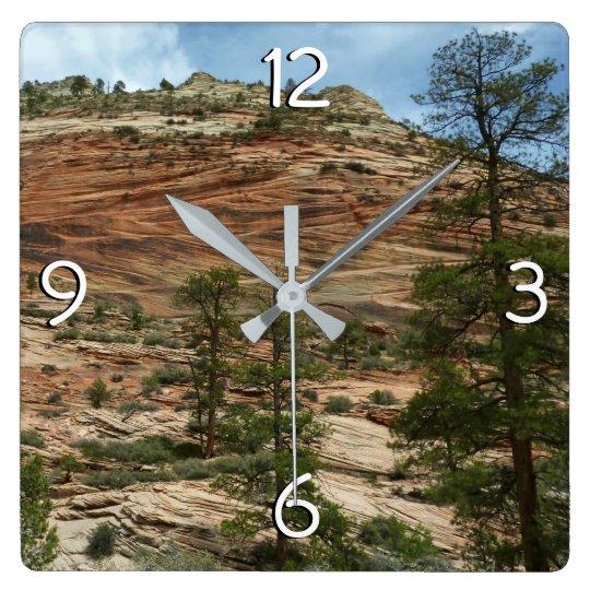 Worn Rock Walls in Zion National Park Clocks