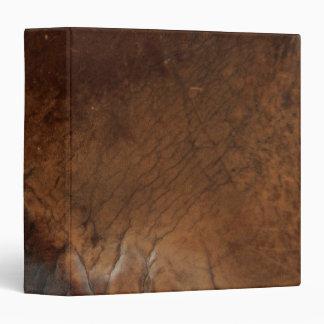 Worn Saddle Faux Leather Vinyl Binder