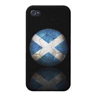 Worn Scottish Flag Football Soccer Ball iPhone 4/4S Cases