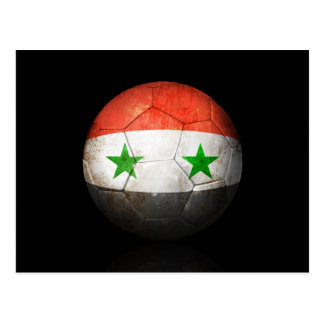 Worn Syrian Flag Football Soccer Ball Postcard