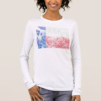 Worn Texas Flag Long Sleeve T-Shirt