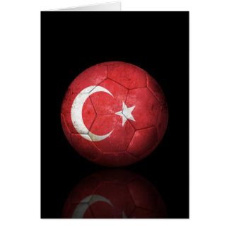 Worn Turkish Flag Football Soccer Ball Card