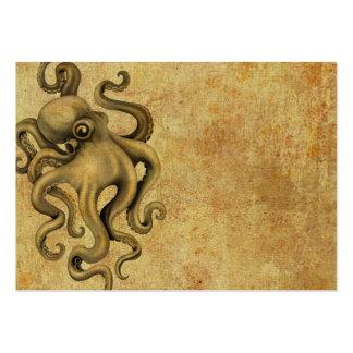 Worn Vintage Octopus Illustration Large Business Card