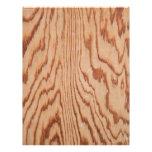 Worn wood grain flyer design
