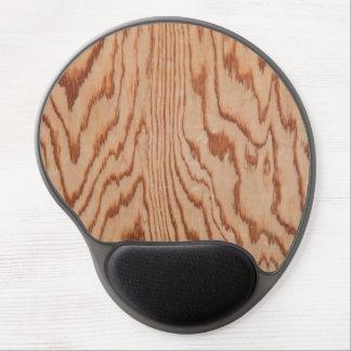Worn wood grain gel mouse pad