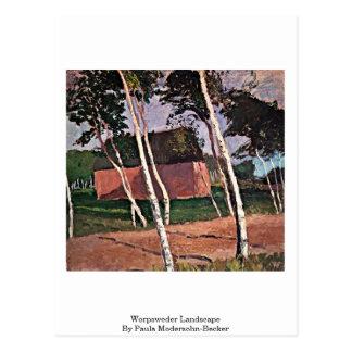 Worpsweder Landscape By Paula Modersohn-Becker Postcard