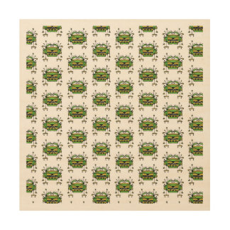Worried Robot Character Illustration Pattern Wood Prints