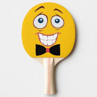 Worried Yellow Emoji Ping Pong Paddle