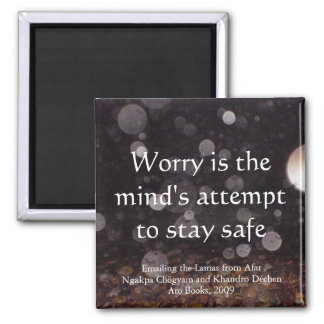 Worry (drops) [magnet] square magnet