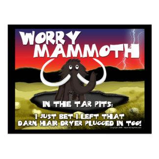Worry Mammoth Postcards