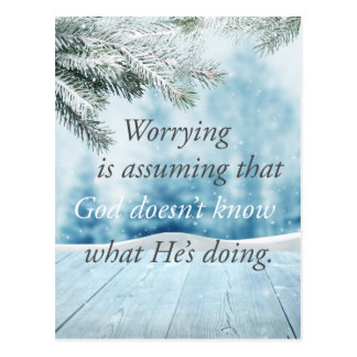 Worry Postcard