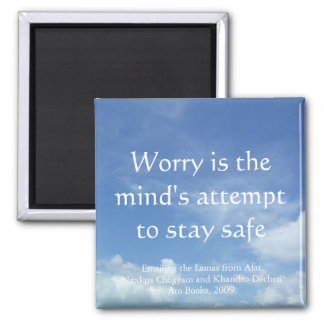 Worry (sky) [magnet] square magnet