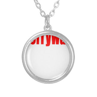 worrying worry red worried release couple teenager silver plated necklace