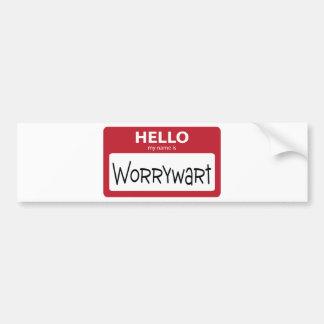 worrywart 001 bumper sticker