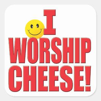 Worship Cheese Life Stickers