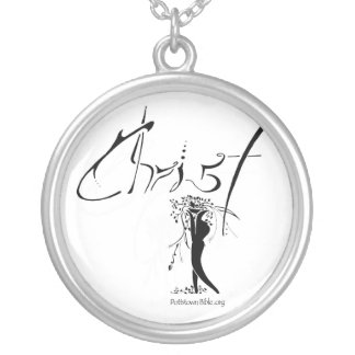 Worship Christ Alone Silver Plated Necklace