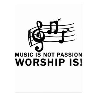WORSHIP design cute Postcard