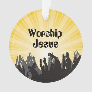 Worship Jesus Bible Verse Custom Ornament