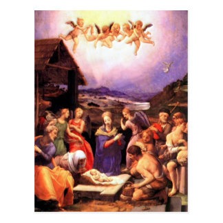 Worship of the Shepherds - Bronzino Postcard