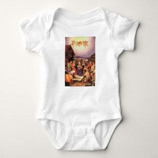 Worship_of_the_shepherds_by_bronzino Baby Bodysuit