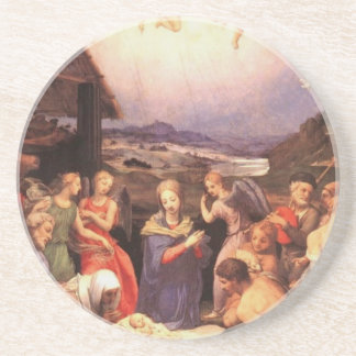 Worship_of_the_shepherds_by_bronzino Coaster