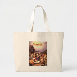 Worship_of_the_shepherds_by_bronzino Large Tote Bag