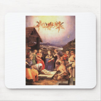Worship_of_the_shepherds_by_bronzino Mouse Pad