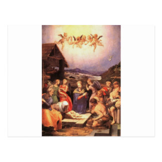 Worship_of_the_shepherds_by_bronzino Postcard