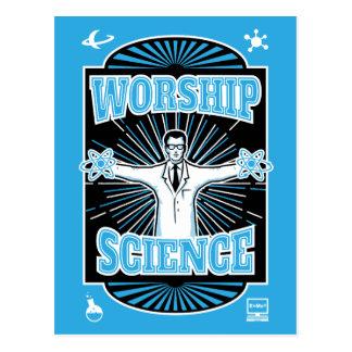 Worship Science - Technology Geek Postcard