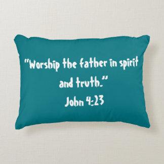 """""""Worship"""" Scripture Pillow"""