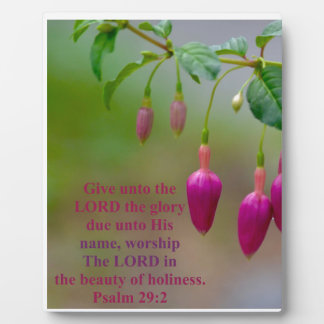 Worship the Lord Plaque