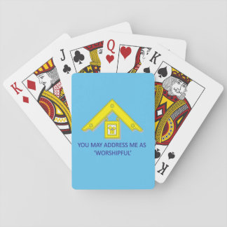WORSHIPFUL PAST MASTER PLAYING CARDS