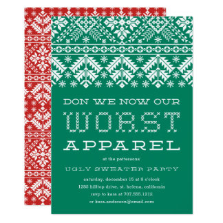 Worst Apparel | Ugly Sweater Party Invitation