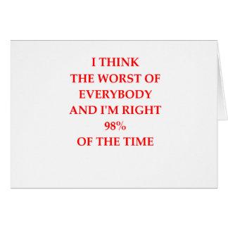 WORST CARD