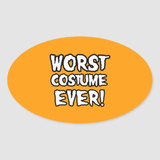 WORST COSTUME EVER - Halloween - png Oval Sticker