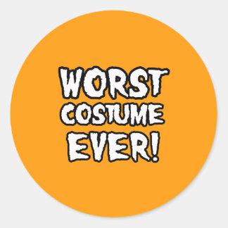 WORST COSTUME EVER - Halloween - png Sticker
