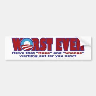 WORST-EVER BUMPER STICKER