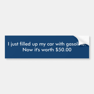 Worth $50.00 bumper sticker