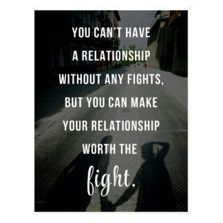 Worth The Fight Quote Postcard