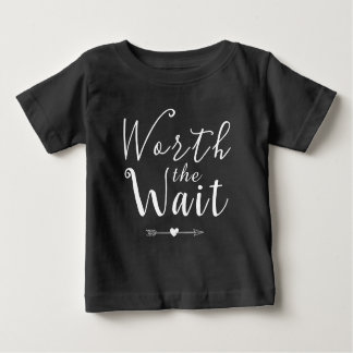 Worth the Wait - Adoption - Arrows - New Baby Baby T-Shirt