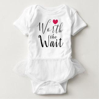 Worth the Wait - Adoption - Heart - New Baby Baby Bodysuit