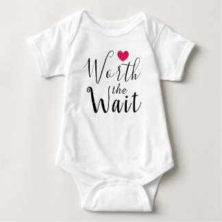 Worth the Wait - Adoption - Heart - New Baby Baby Bodysuit