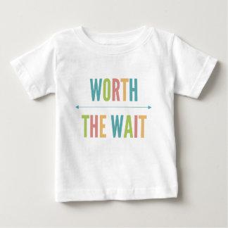Worth the Wait - Adoption - Modern - New Baby Baby T-Shirt
