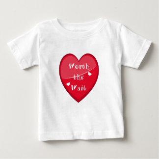 Worth the Wait - Adoption - New Baby Baby T-Shirt