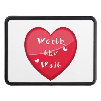 Worth the Wait - Adoption - New Baby Trailer Hitch Cover