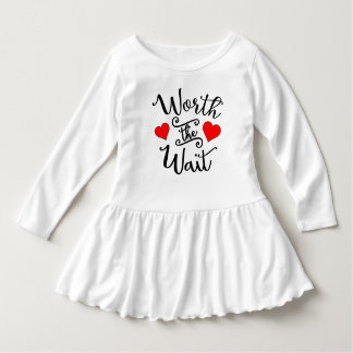 Worth the Wait Toddler Ruffle Dress