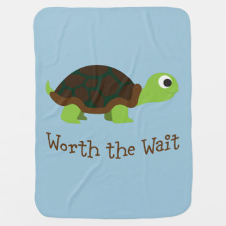 Worth The Wait Turtle Baby Blanket