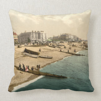 Worthing Beach II, Sussex, England Throw Pillow