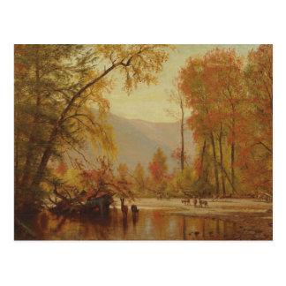 Worthington Whittredge - Autumn on the Delaware Postcard
